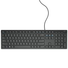 dell multimedia keyboard kb216 uk (qwerty) black top view